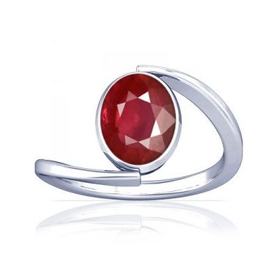African Ruby Sterling Silver Ring - K6