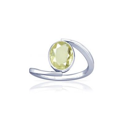 African Yellow Sapphire Sterling Silver Ring - K6