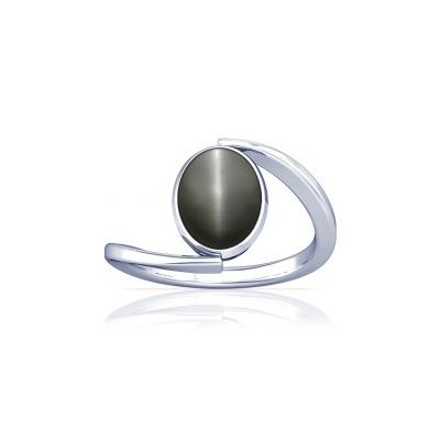 Natural Cats Eye Sterling Silver Ring - K6