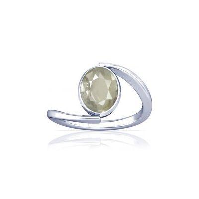White Quartz Sterling Silver Ring - K6