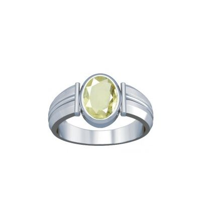 African Yellow Sapphire Sterling Silver Ring - K8