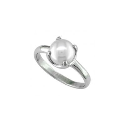 Natural Pearl Sterling Silver Ring - P6