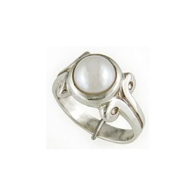 Natural Pearl Sterling Silver Ring - P7
