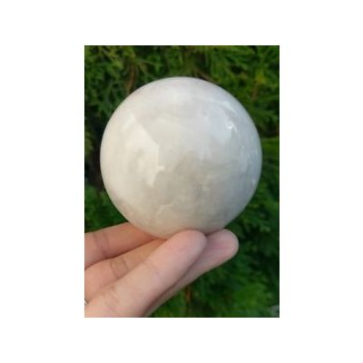 White Agate Stone Ball 436 gm