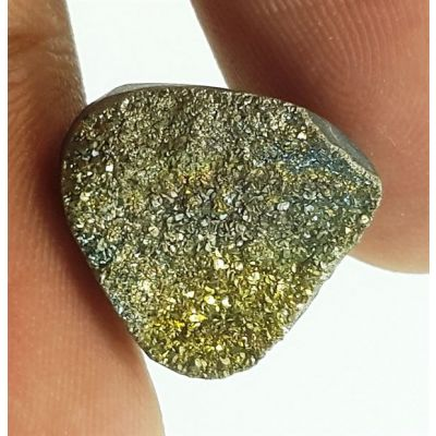 6.41 Carats Natural Spectro Pyrite Druzy 12.72 X 12.19 X 5.88 mm