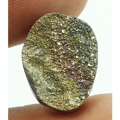 5.80 Carats Natural Spectro Pyrite Druzy 14.31 X 11.02 X 4.63 mm