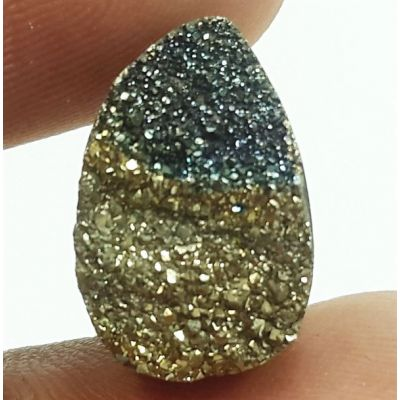 5.94 Carats Natural Spectro Pyrite Druzy 15.09 X 9.95 X 4.60 mm
