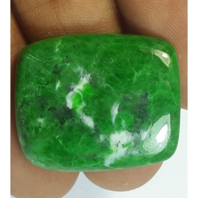 31.51 Carats Natural  Jadeite Jade Rectangular Shaped 25.95x21.69x4.56 mm