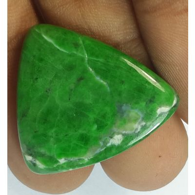 23.30 Carats Natural Jadeite Jade Triangle  Shaped 25.38x23.43x4.11 mm