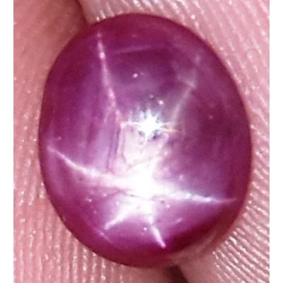 1.91 Carats African Star Ruby 8.05x6.82x3.17 mm